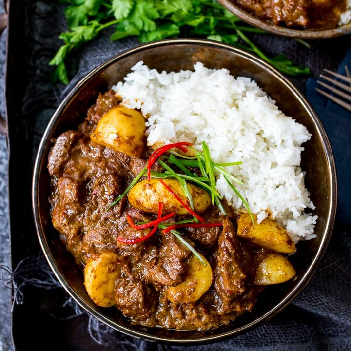 Slow Cooked Beef Massaman Curry - Nicky's Kitchen Sanctuary