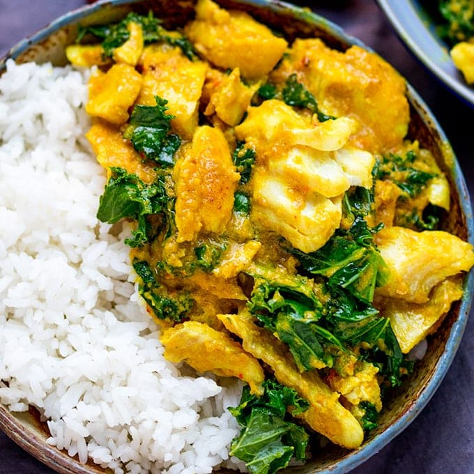 Easy From-Scratch Thai Yellow Curry With Fish - Nicky's Kitchen ...