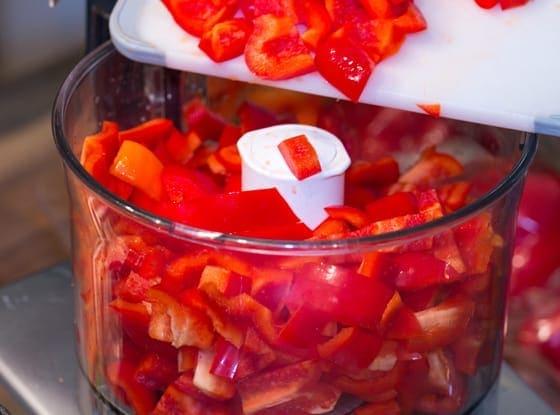 sweet chilli jam prep
