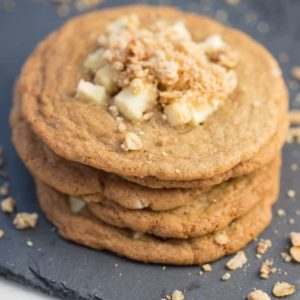 Stack of Apple Crumble Cookies