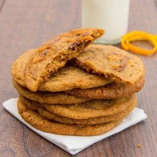 Chocolate Orange Chewy Cookies