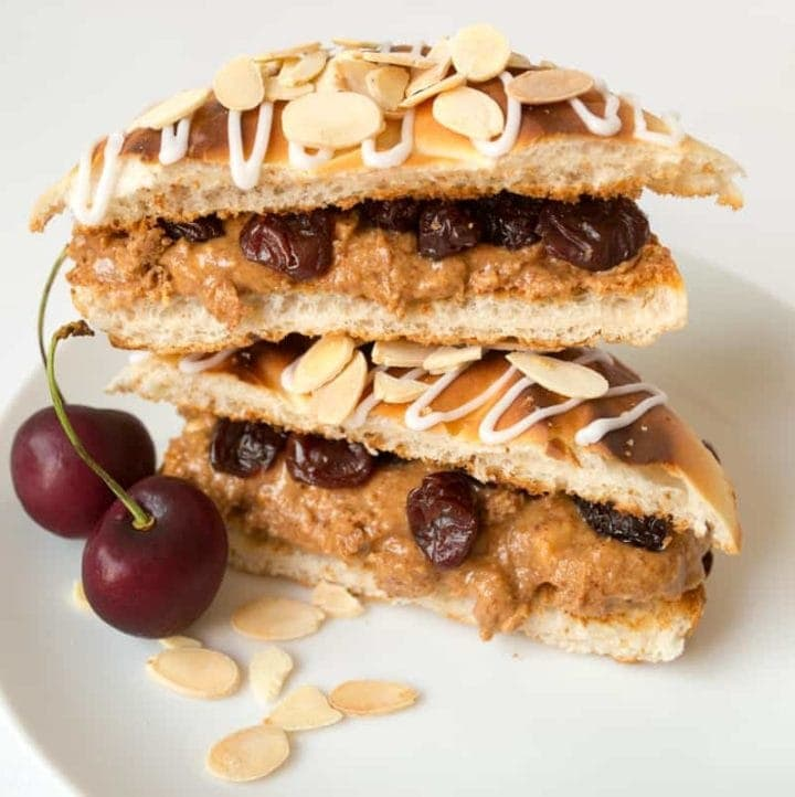 Cherry Bakewell Toastie - day 4 of my five day 'Sweet Toasties' series to brighten up your holiday breakfast.