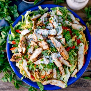 Cajun Chicken Noodle Salad with Creamy Chilli Lime Dressing