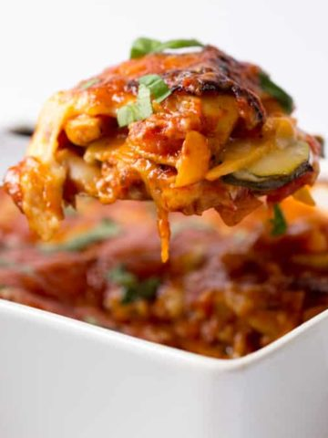 Chicken and Bacon Lasagne - A hearty family favourite with added veg - packed full of flavour!