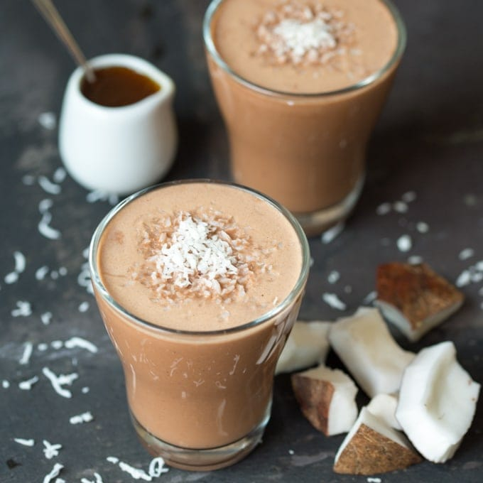 Malted Coconut Hot Smoothie