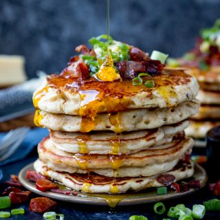 Savoury Dinner Pancakes with Chilli Butter