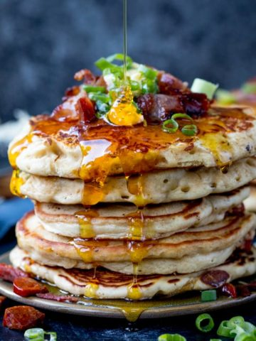 Savoury Dinner Pancakes with Chilli Butter. These Savoury Pancakes would make great street food!  Simple and quick to make - great for a speedy dinner!