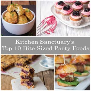 10 bite sized party foods by Kitchen Sanctuary