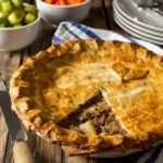 Cow Pie - Shortcrust pastry filled with slow cooked beef, potatoes and gravy.