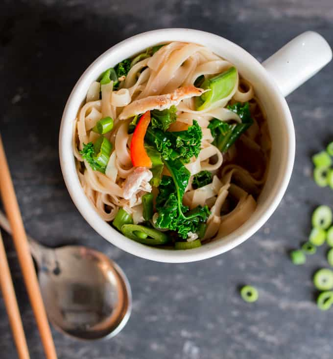 Homemade Chicken and Vegetable Pot Noodle (Instant Noodles) - A great packed lunch alternative for work. Just add boiling water!