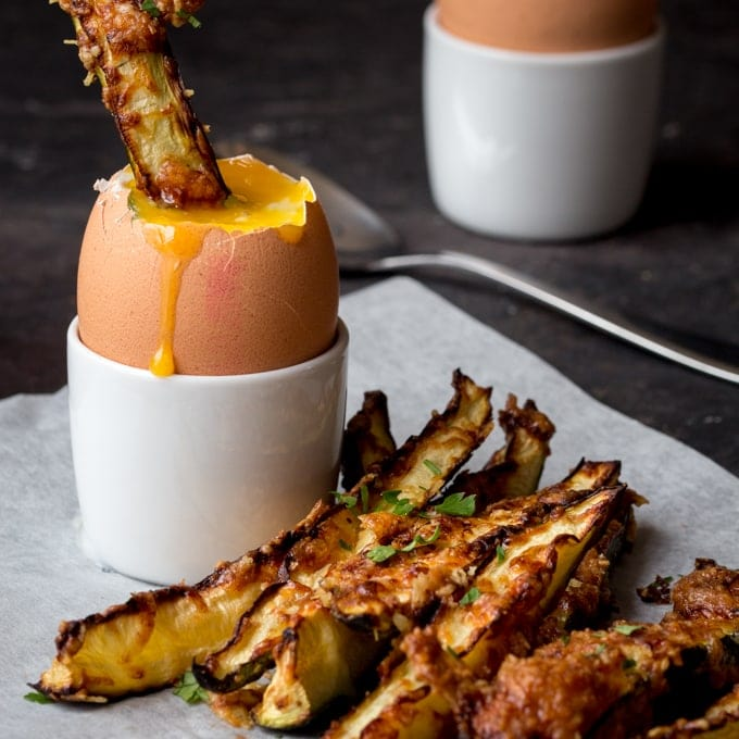 Courgette Fries and the perfect Dippy Egg - Nicky's Kitchen Sanctuary