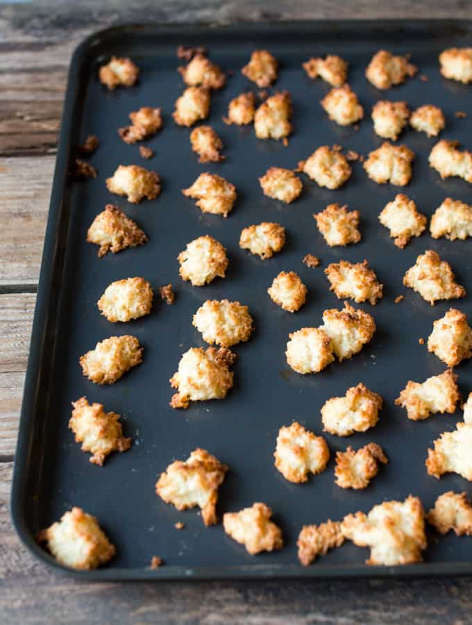 A tray of mini Coconut Macaroons
