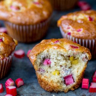 Rhubarb and Marzipan Muffins