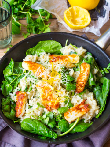 This Herby Lemon Risotto with Halloumi is fresh, light and so full of flavour even the carnivores will love it!