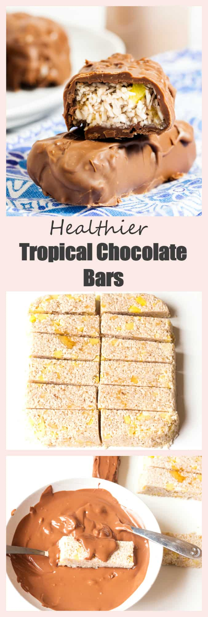 A healthier version of the favourite coconut chocolate bar.