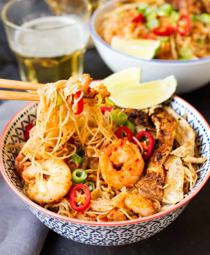 This hot and spicy Mee Siam is a wonderful, quick meal to get your taste buds tingling. Plus it's ready from scratch in 30 minutes!
