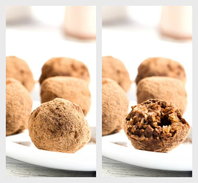 Tropical Truffles - made from the 'chocolate coconut bar' making leftovers