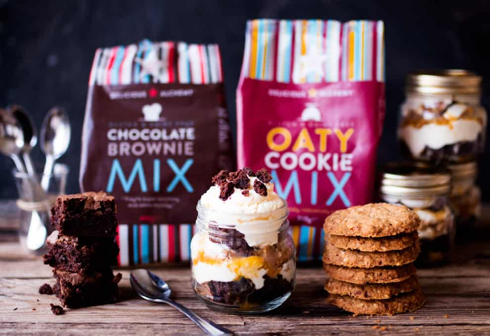 Oaty Chocolate Brownie Parfait with Salted Caramel - Gluten free heaven!