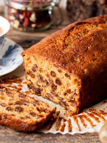 Beautifully rich, moist and fruity Tea Bread.