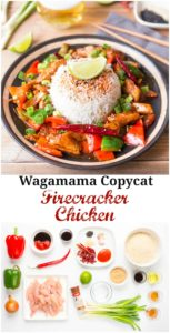 A sweet, hot and spicy copycat version of Wagamama's Firecracker Chicken + a giftcard giveaway!