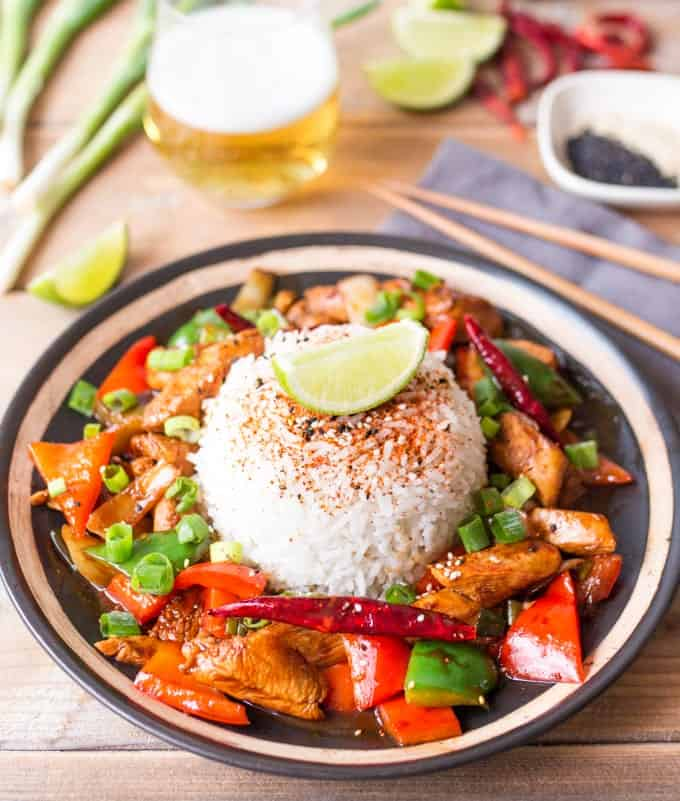 Copycat version of Wagamama's Firecracker Chicken