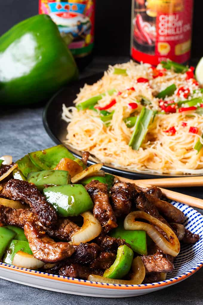 Black Pepper Steak with Chilli Lime Noodles - this recipe is guaranteed to get your taste buds tingling!