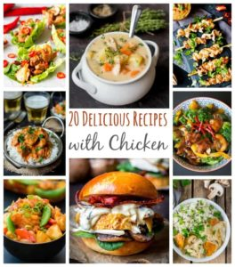 Stuck for recipes to make with Chicken? Check out these 20 tasty recipes!