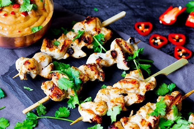 chicken satay kabobs