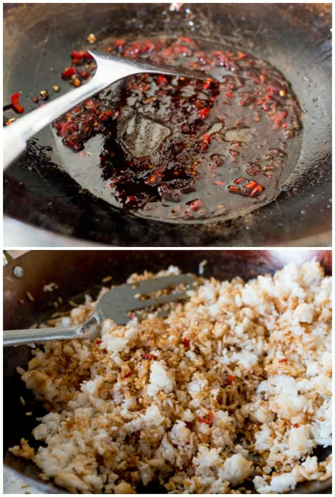 Process for making Indonesian Fried Rice