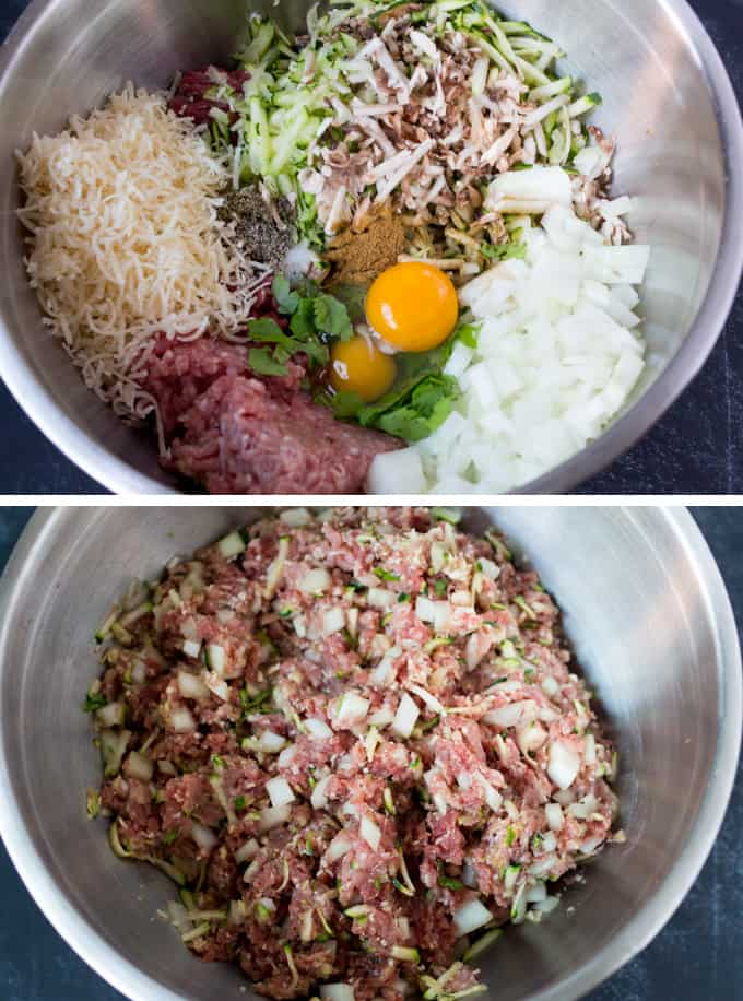 Process of making the hidden veg meatball mixture