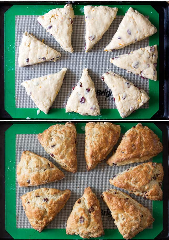 cranberry and orange scones prep collage2