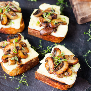 Garlic Mushroom and Brie Toast