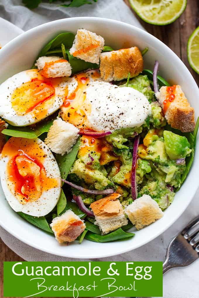 Guacamole and Egg Breakfast Bowl