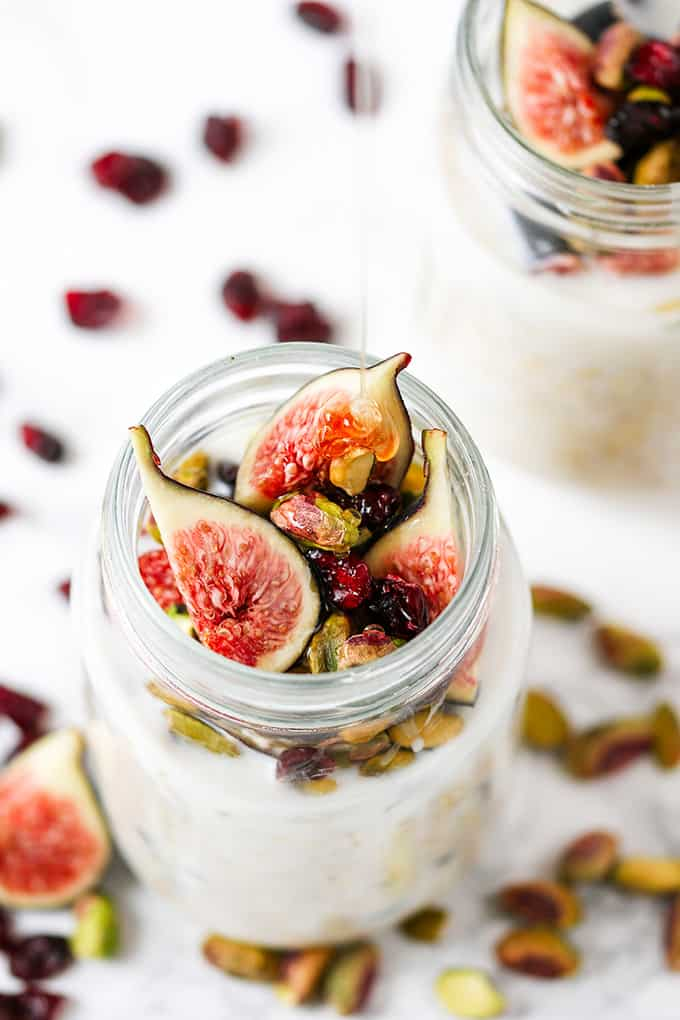 Overnight Oats with Figs and Pistachios - Nicky's Kitchen ...