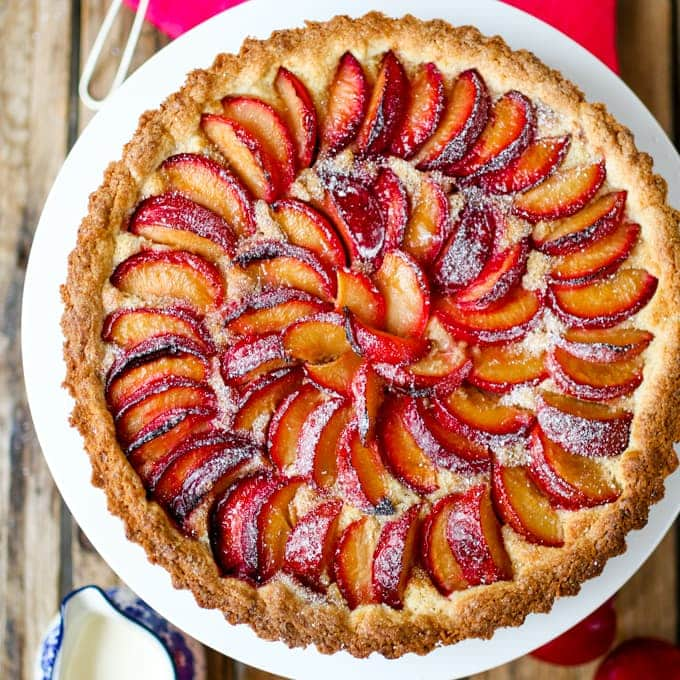 Plum and Almond Tart with Homemade Pastry - Nicky's ...