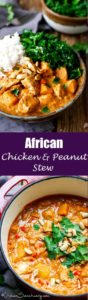 A slightly spicy, chicken and peanut stew that can be eaten on it's own, or with rice.
