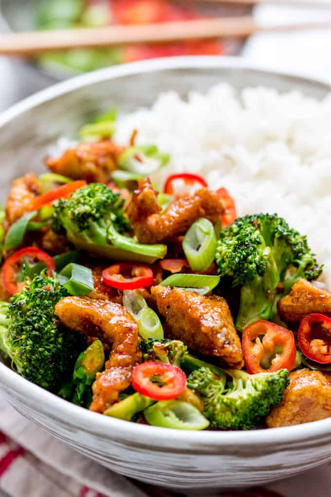 Crispy Chilli Chicken with Broccoli - Sweet, Sour, Spicy and Delicious!