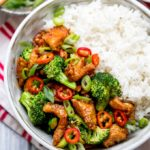 Crispy Chilli Chicken with Brocolli - Sweet, Sour, Spicy and Delicious!