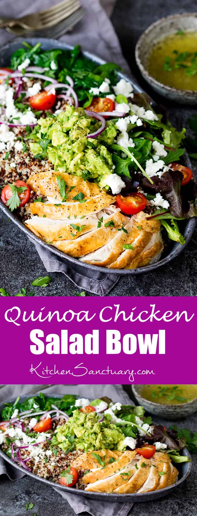 Chicken And Quinoa Salad Bowl Nicky S Kitchen Sanctuary