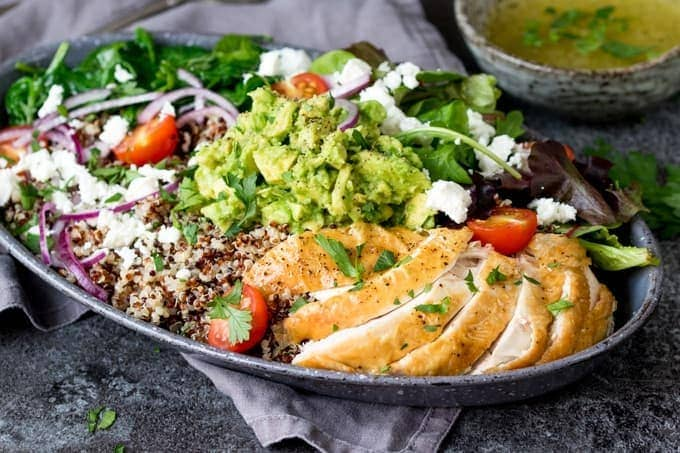 Chicken And Quinoa Salad Bowl Nickys Kitchen Sanctuary