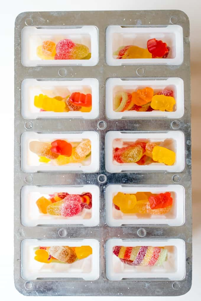 these pick and mix candy popsicles are pretty naughty, but they're so much fun for treat day!