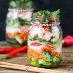 Thai Prawn Spiralizer Salad - a lighter lunch with bags of flavour!