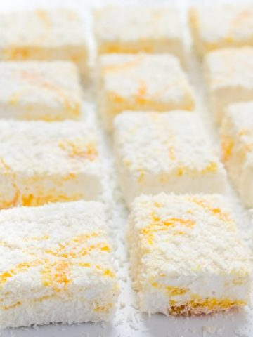 Lemon Curd and Coconut Marshmallows - light and fluffy, these marshmallows make an amazing homemade gift!