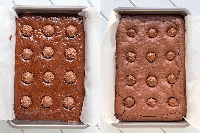 ferrero-rocher-brownies-prep-collage