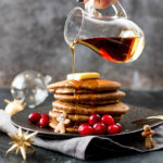 These Christmas Gingerbread Pancakes are light and fluffy, with a hint of cinnamon and ginger - perfect for Christmas Day Breakfast!
