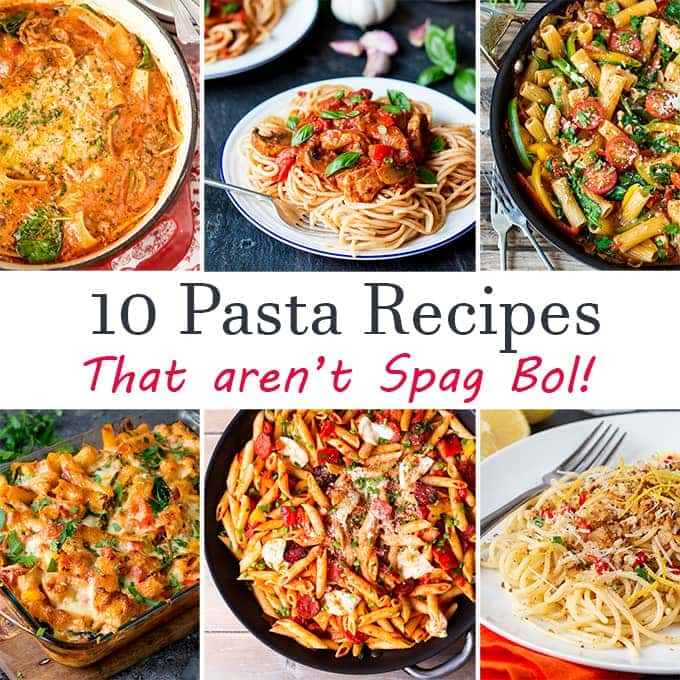 T pasta recipes