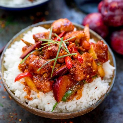 Chinese Plum Chicken Stir Fry