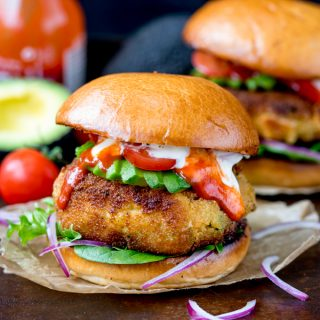 Cheesy Veggie Chickpea Burgers
