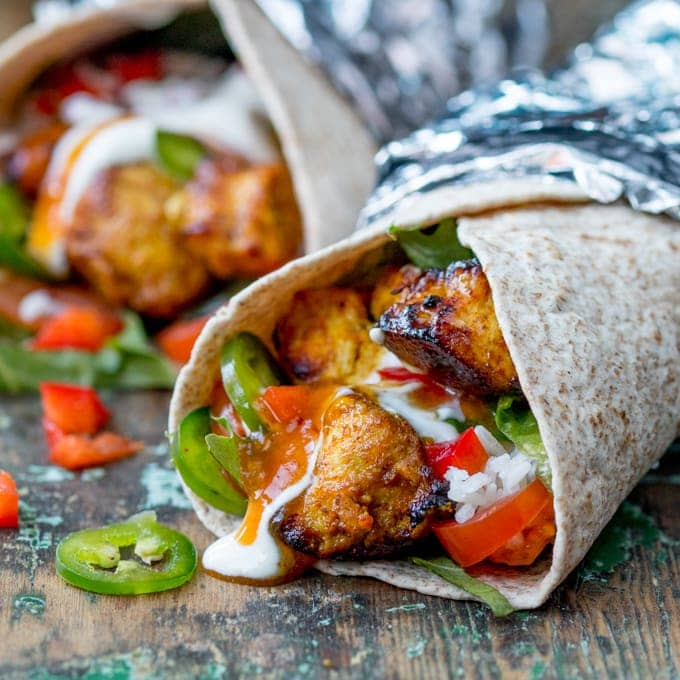 Chicken Tikka Chapati Burritos