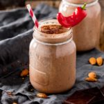Mexican Hot Chocolate Breakfast Smoothie - A delicious warm smoothie to wake up your taste buds. Lots of healthy goodies in there too!